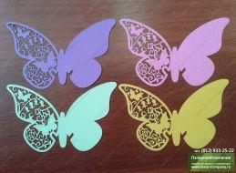Как сделать маленькие бабочки из бумаги для украшение